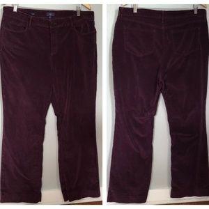NYDJ Teresa Velveteen Wide Leg 5-Pocket Jeans Plus